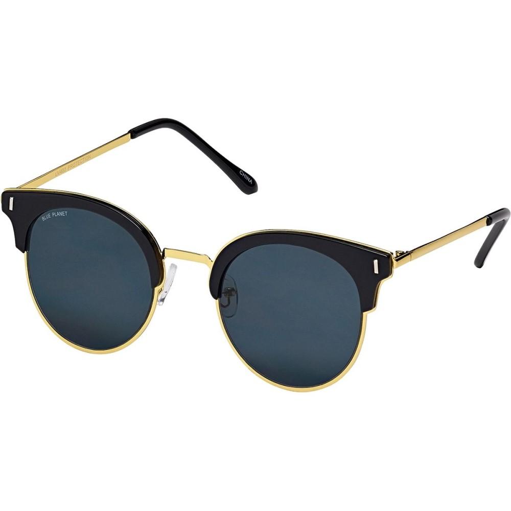 ブループラネット レディース スポーツサングラス【Skye Polarized Sunglasses】Black Onyx/Gold/Smoke Polarized