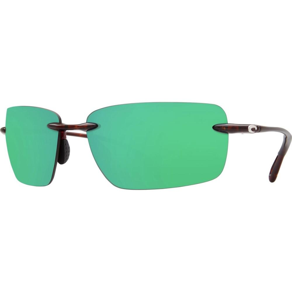 コスタ レディース メガネ・サングラス【Gulf Shore Polarized 580P Sunglasses】Shiny Tort Green Mirror p