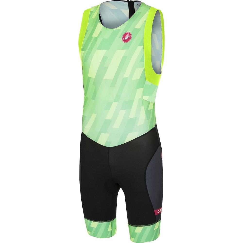 カステリ メンズ トライアスロン トップス【Short Distance Race Suits】Pro Green/Black