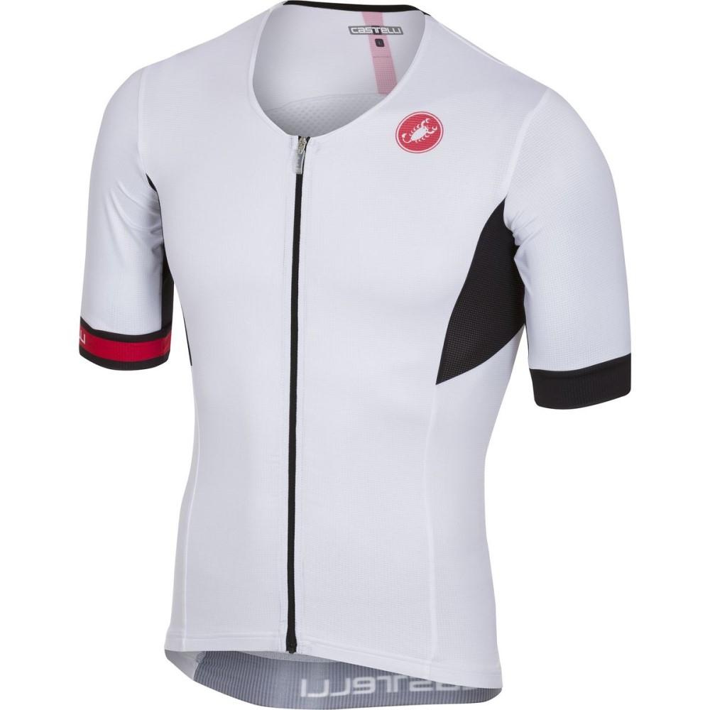 カステリ メンズ トライアスロン トップス【Free Speed Race Tri Jerseys】White