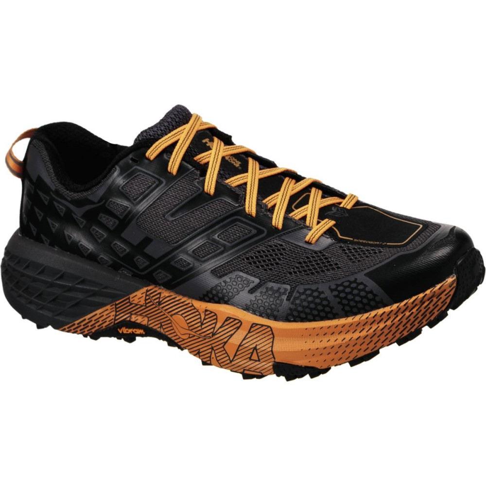 ホカ オネオネ メンズ ランニング・ウォーキング シューズ・靴【Speedgoat 2 Running Shoes】Black/Kumquat