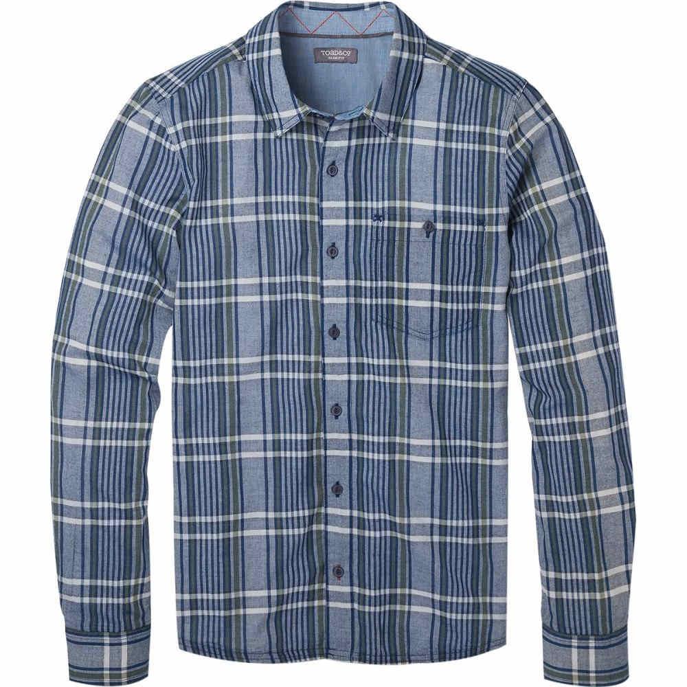 トードアンドコー メンズ トップス シャツ【Beckmen Long - Sleeve Slim Shirts】Medium Indigo