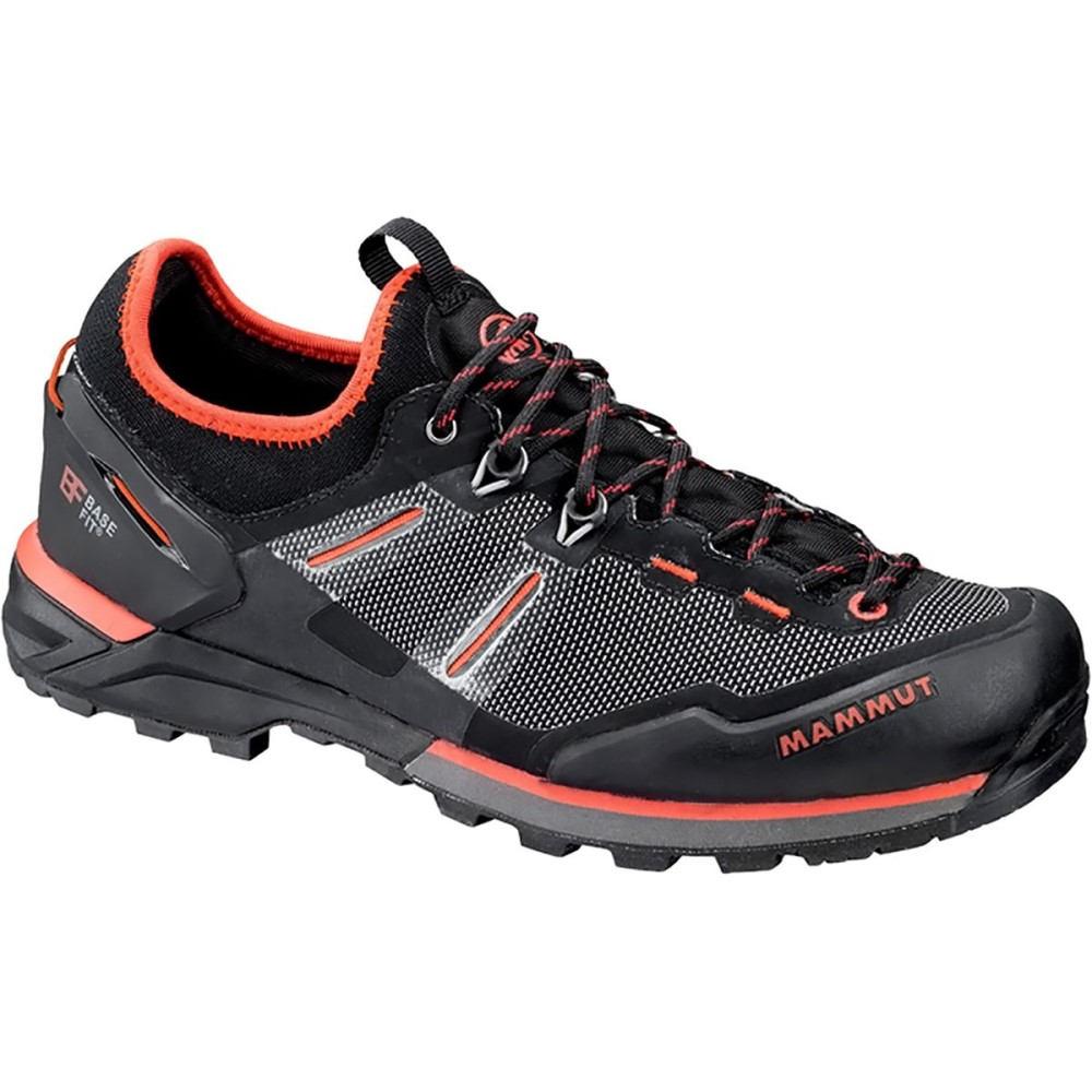 マムート レディース ハイキング・登山 シューズ・靴【Alnasca Knit Low Approach Shoe】Black/Dark Barberry