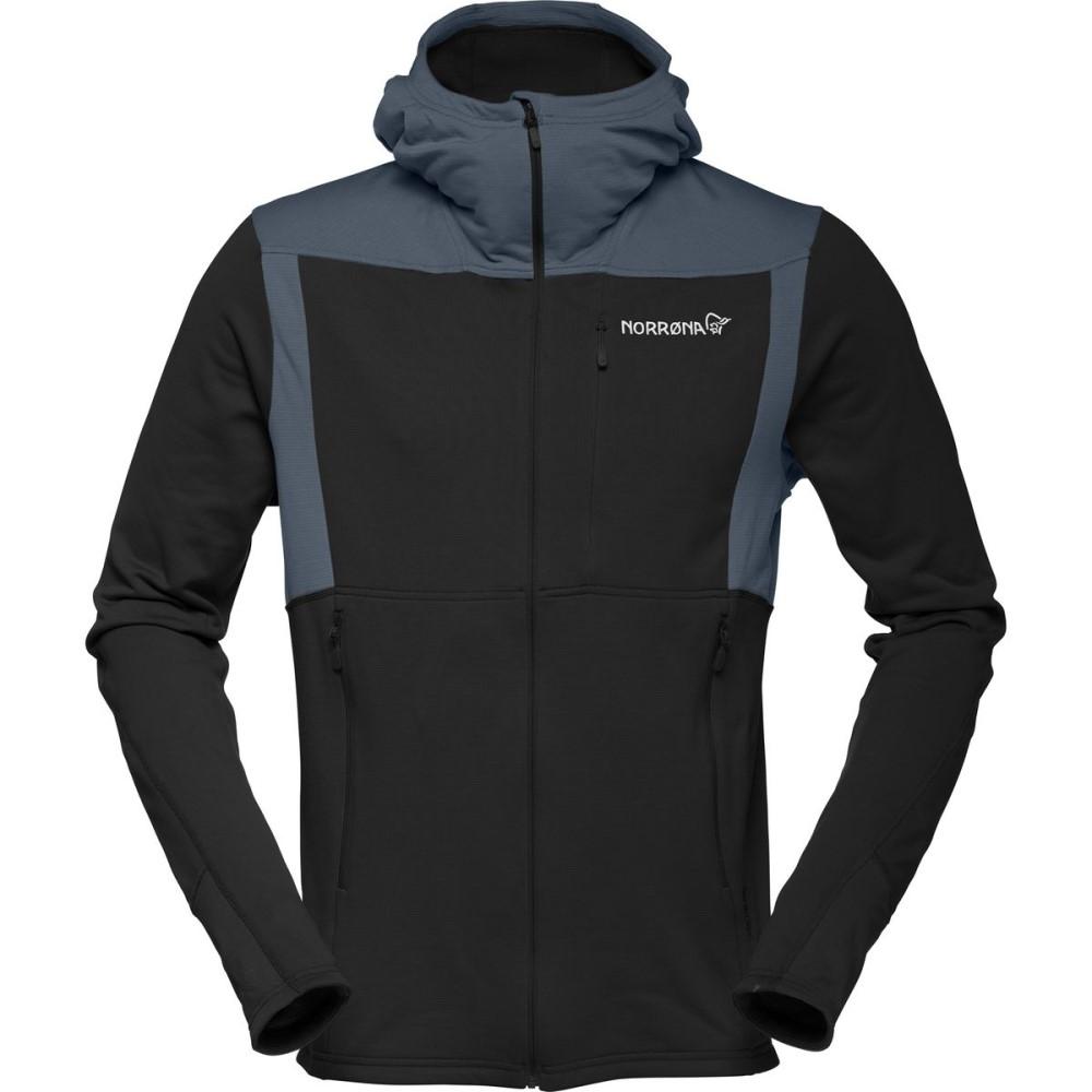 ノローナ メンズ トップス フリース【Falketind Warm1 Stretch Hooded Fleece Jackets】Caviar