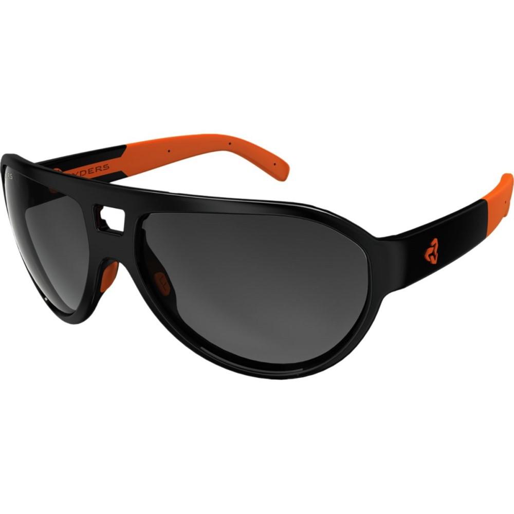ライダーズ アイウェア レディース スポーツサングラス【Hiline Sunglasses】Poly Black-Orange / Grey Gradient Lens Anti-Fog