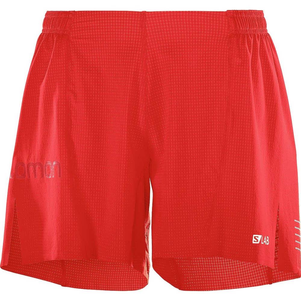 サロモン メンズ フィットネス・トレーニング ボトムス・パンツ【S - Lab 6in Shorts】Racing Red