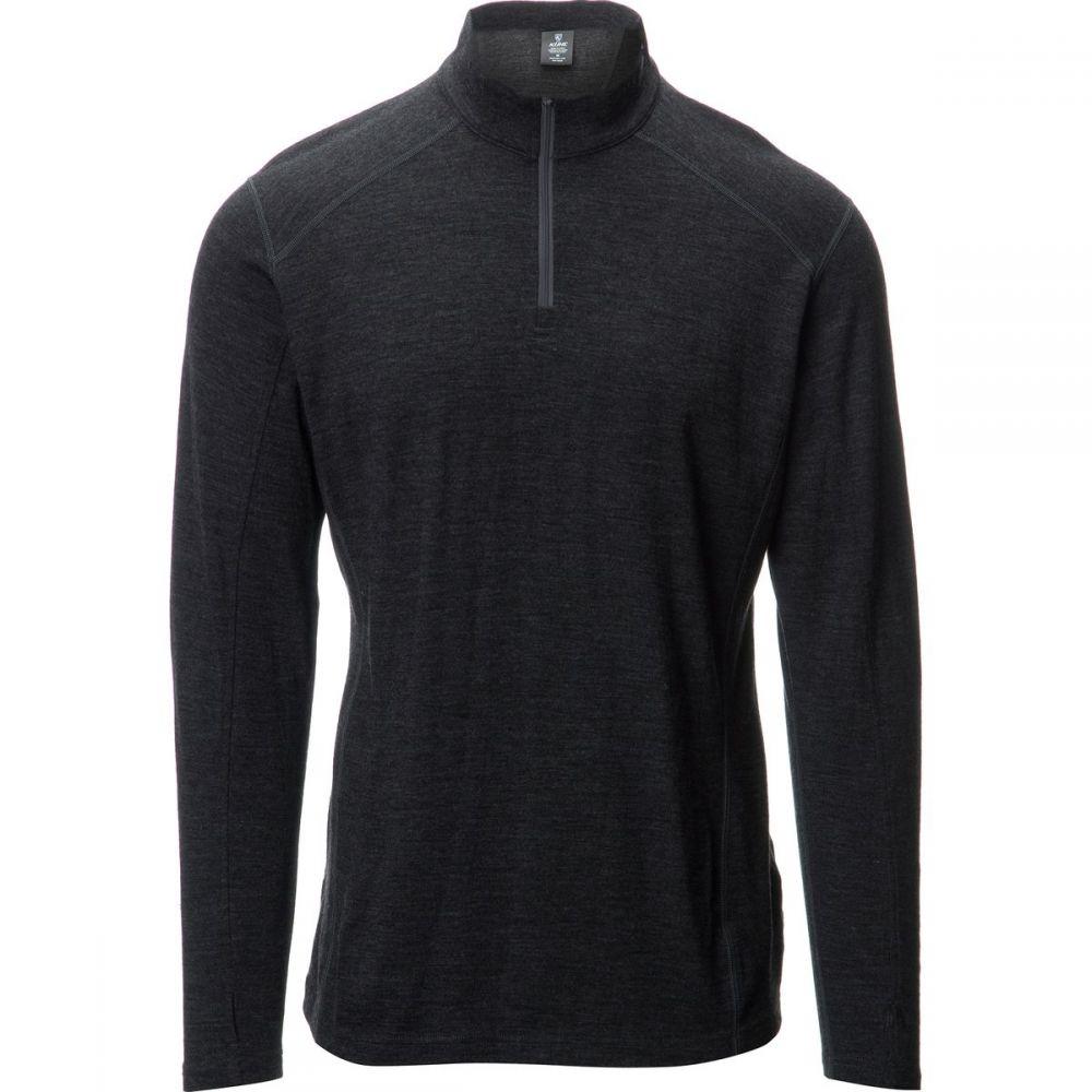 キュール メンズ トップス ニット・セーター【Skar 1/4 - Zip Sweaters】Smoke