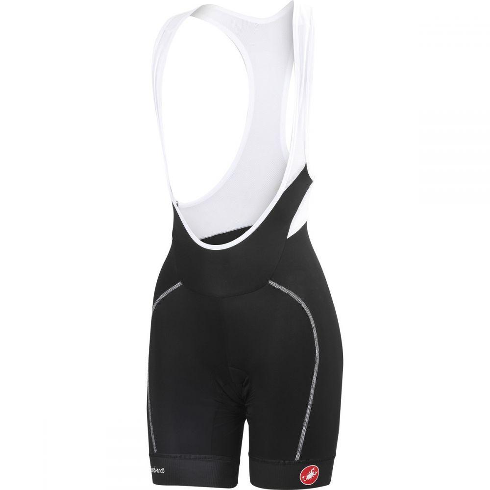 カステリ レディース 自転車 ボトムス・パンツ【Velocissima Bib Shorts】Black/White