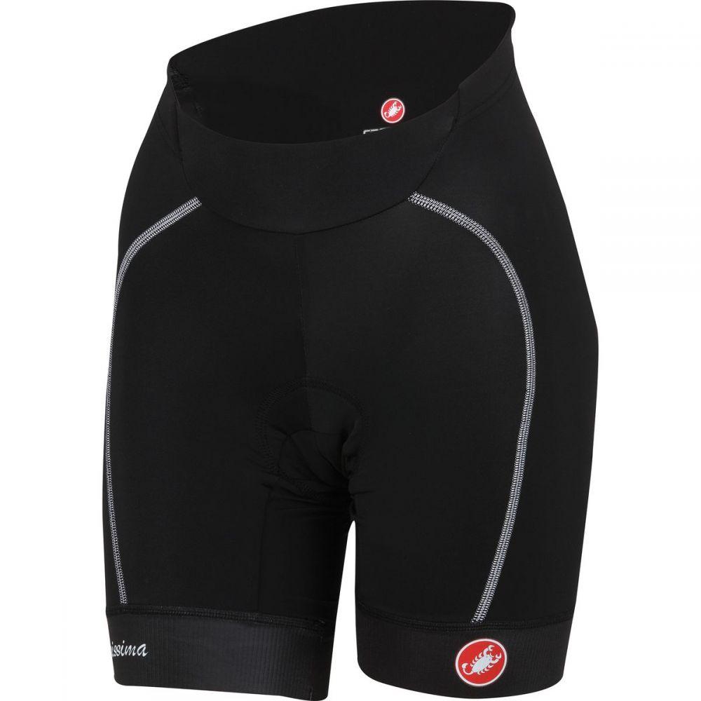 カステリ レディース 自転車 ボトムス・パンツ【Velocissima Shorts】Black/White