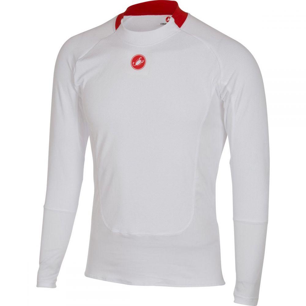 カステリ メンズ 自転車 トップス【Prosecco Long - Sleeve Baselayers】White