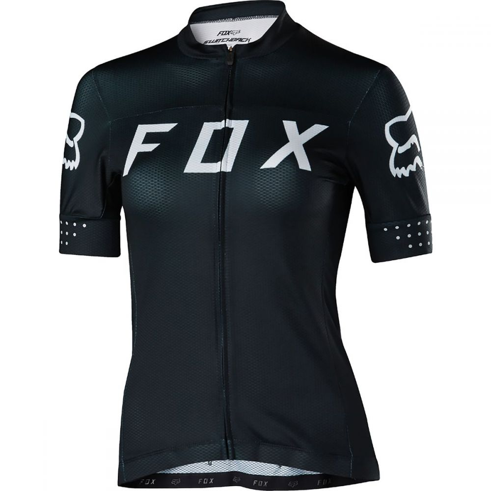フォックス レーシング レディース 自転車 トップス【Switchback Jersey】Black/White