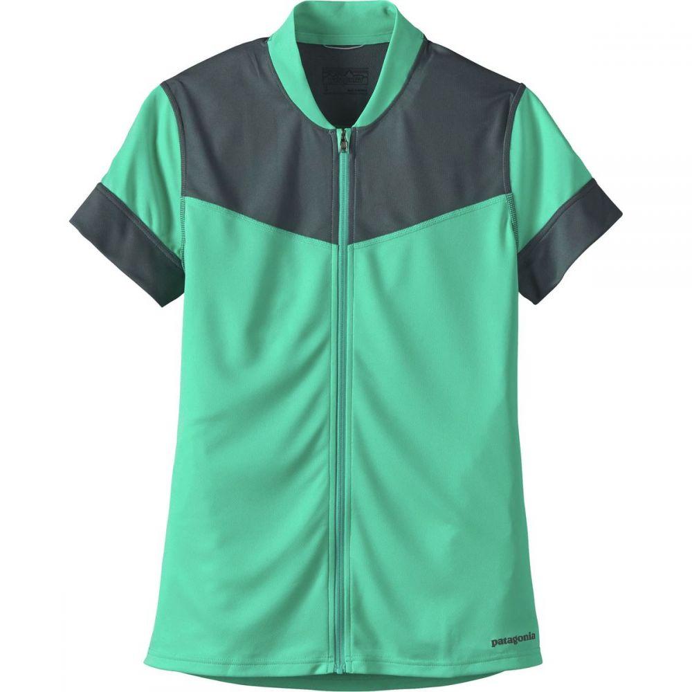 パタゴニア レディース 自転車 トップス【Crank Craft Jersey】Galah Green