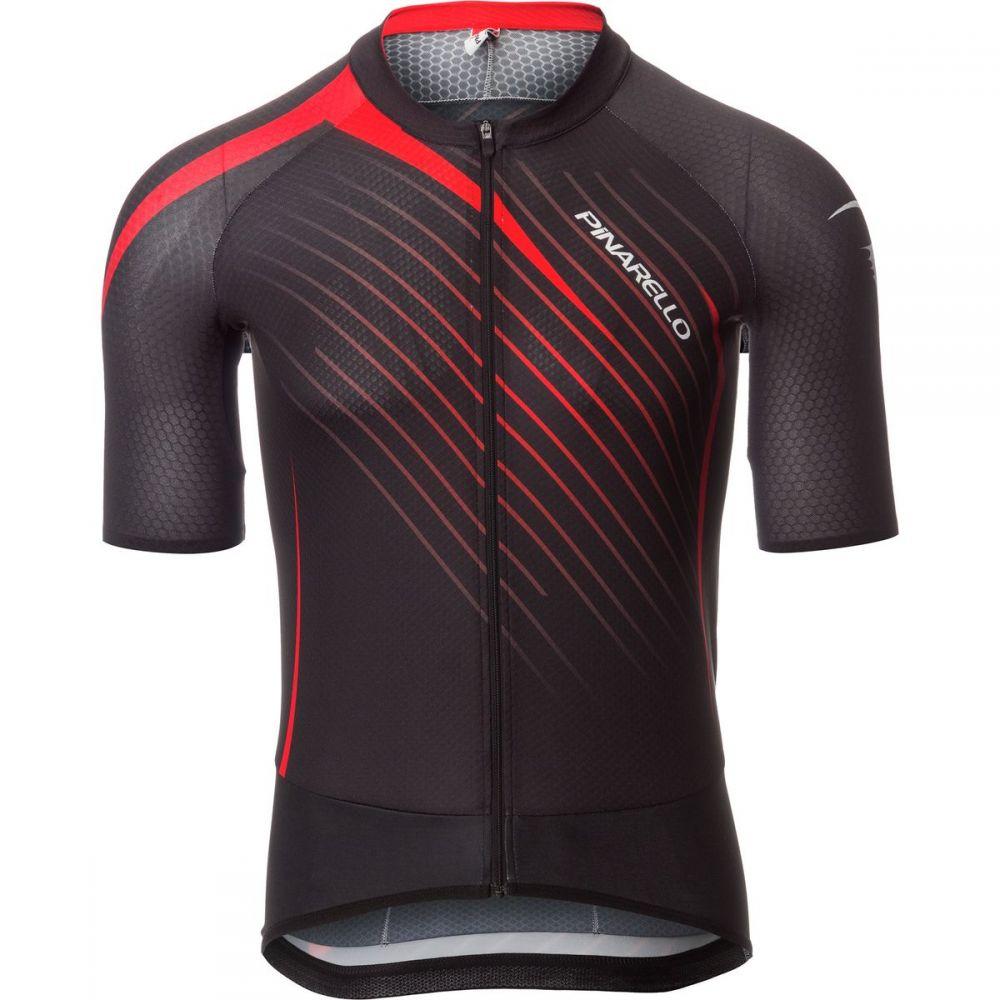 ピナレロ メンズ 自転車 トップス【Tour Jerseys】Black/Red