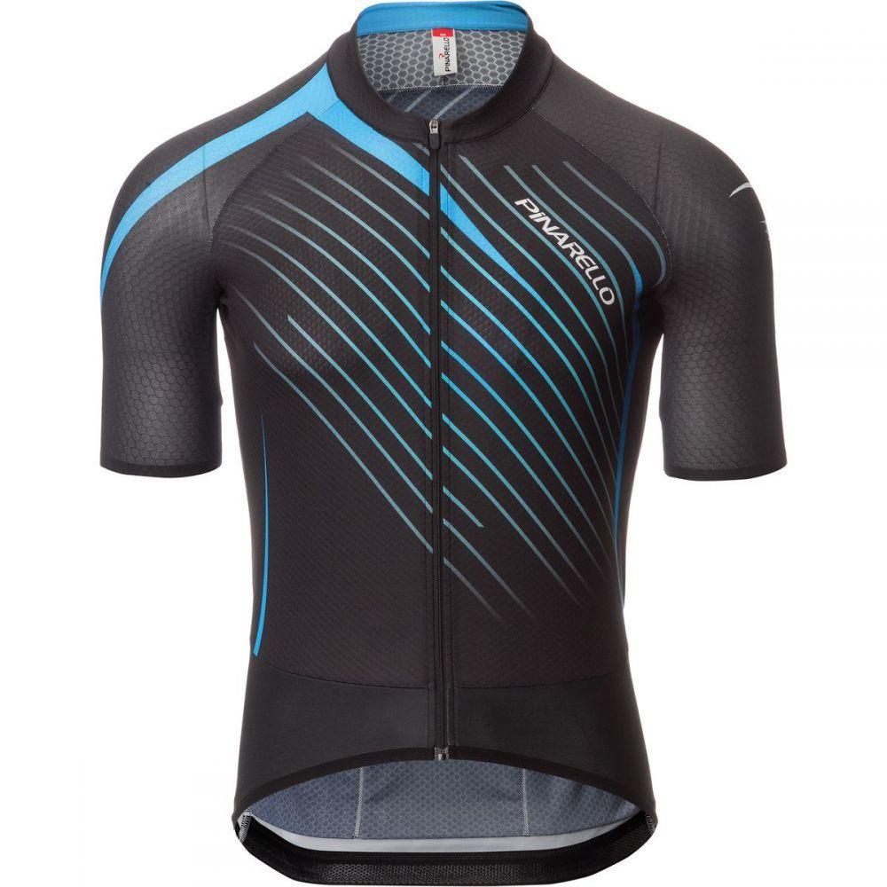 ピナレロ メンズ 自転車 トップス【Tour Jerseys】Black/Sky Blue
