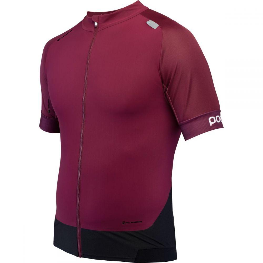 ピーオーシー メンズ 自転車 トップス【Resistance Pro XC Zip T - Shirts】Propylene Red