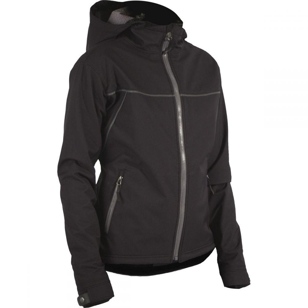 シャワーズ パス レディース 自転車 アウター【Rogue Hooded Jacket】Black/Grey