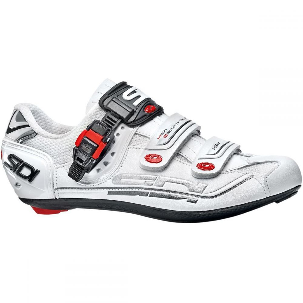 シディー メンズ 自転車 シューズ・靴【Genius Fit Carbon Mega Shoes】White