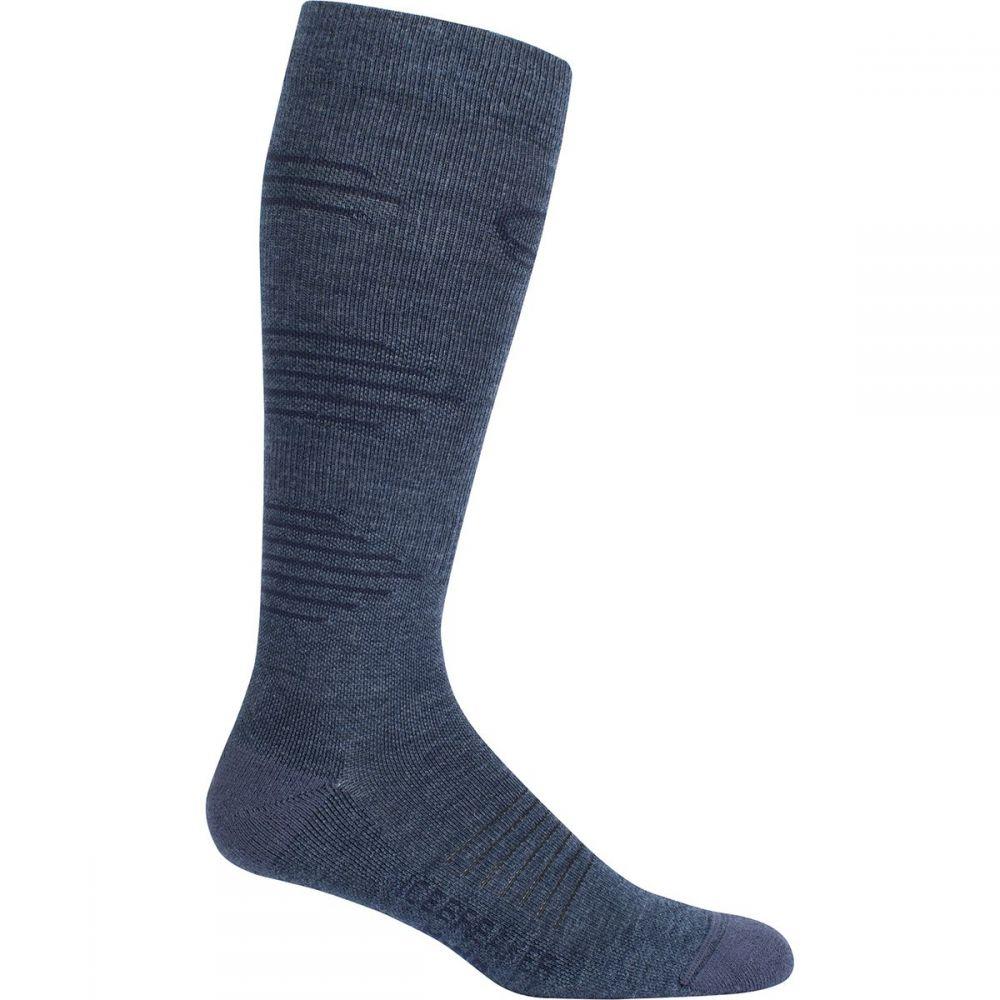 アイスブレーカー メンズ ハイキング・登山【Hike+ Light Cushion Compression OTC Socks】Fathom Heather/Midnight Navy