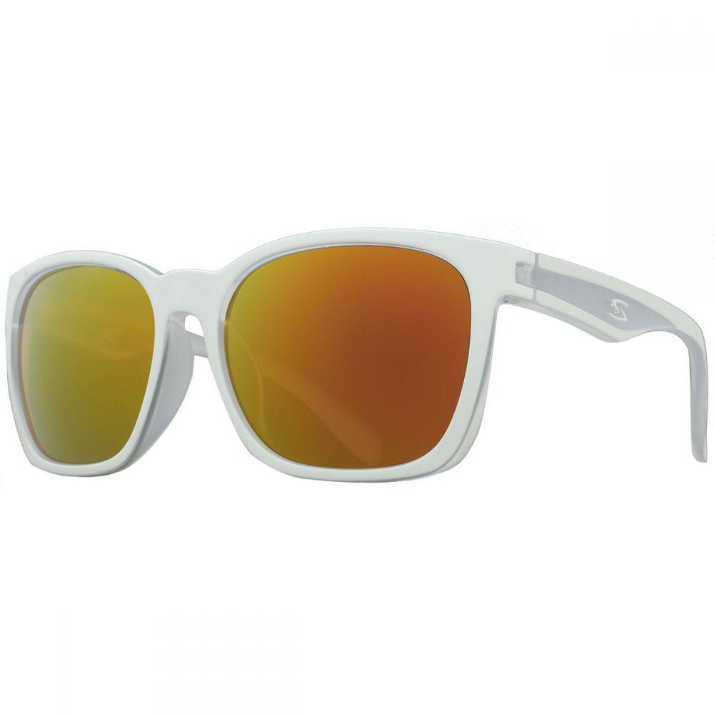 サーファス レディース スポーツサングラス【Decorah Sunglasses】Matte White/Red Multicoat Polarized Lens
