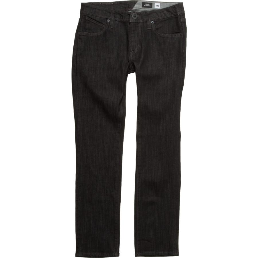 ボルコム Volcom メンズ ボトムス ジーンズ【Vorta Slim Denim Pants】Black Rinser