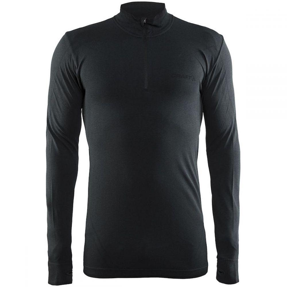 クラフト メンズ 自転車 トップス【Active Comfort Zip Tops】Black Solid