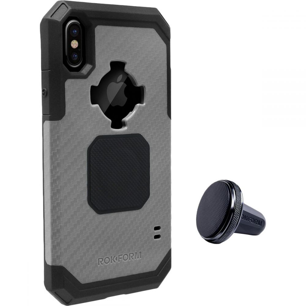 ロクファム レディース iPhone (X)ケース【Rugged Case - iPhone X】Black/Gunmetal