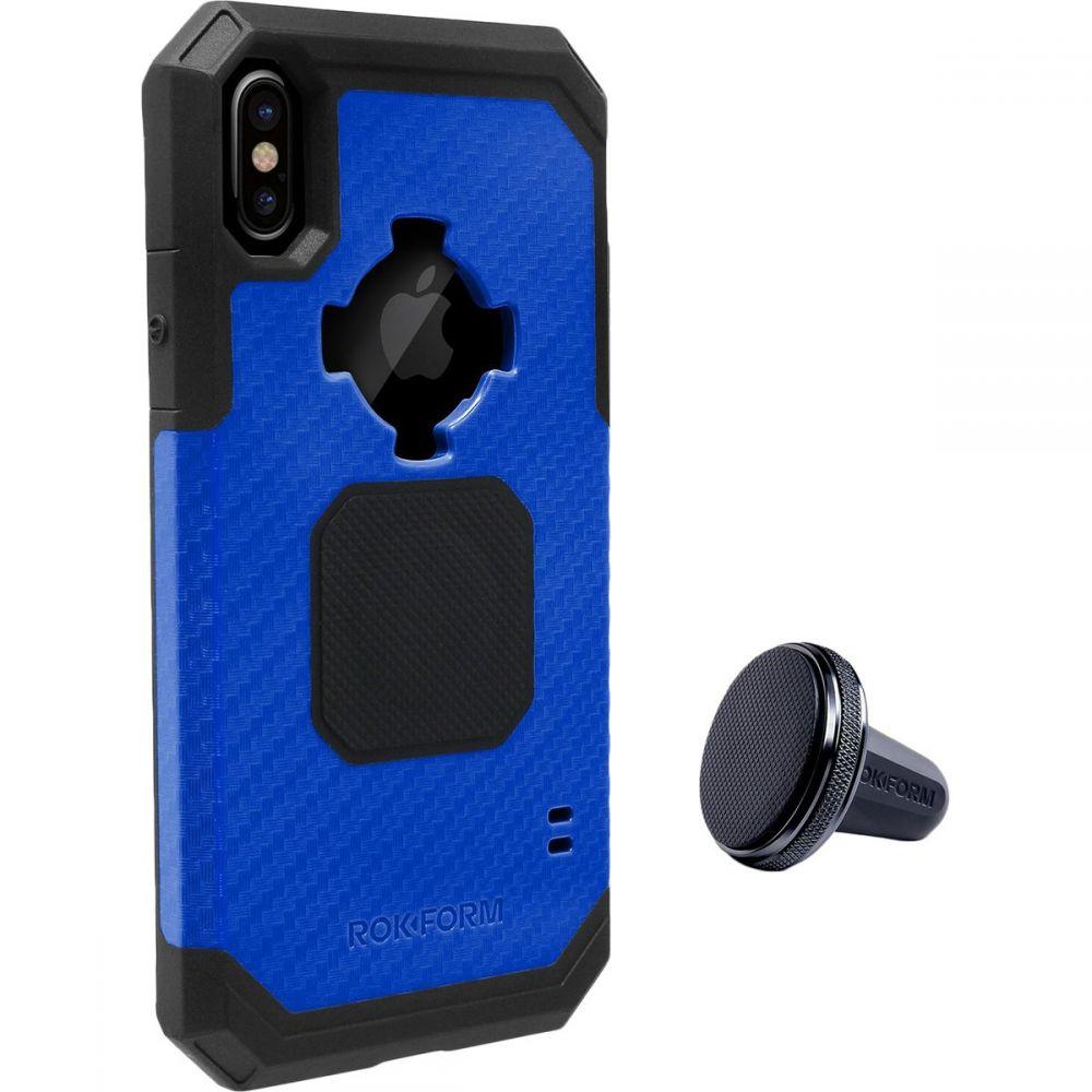 ロクファム レディース iPhone (X)ケース【Rugged Case - iPhone X】Navy/Black