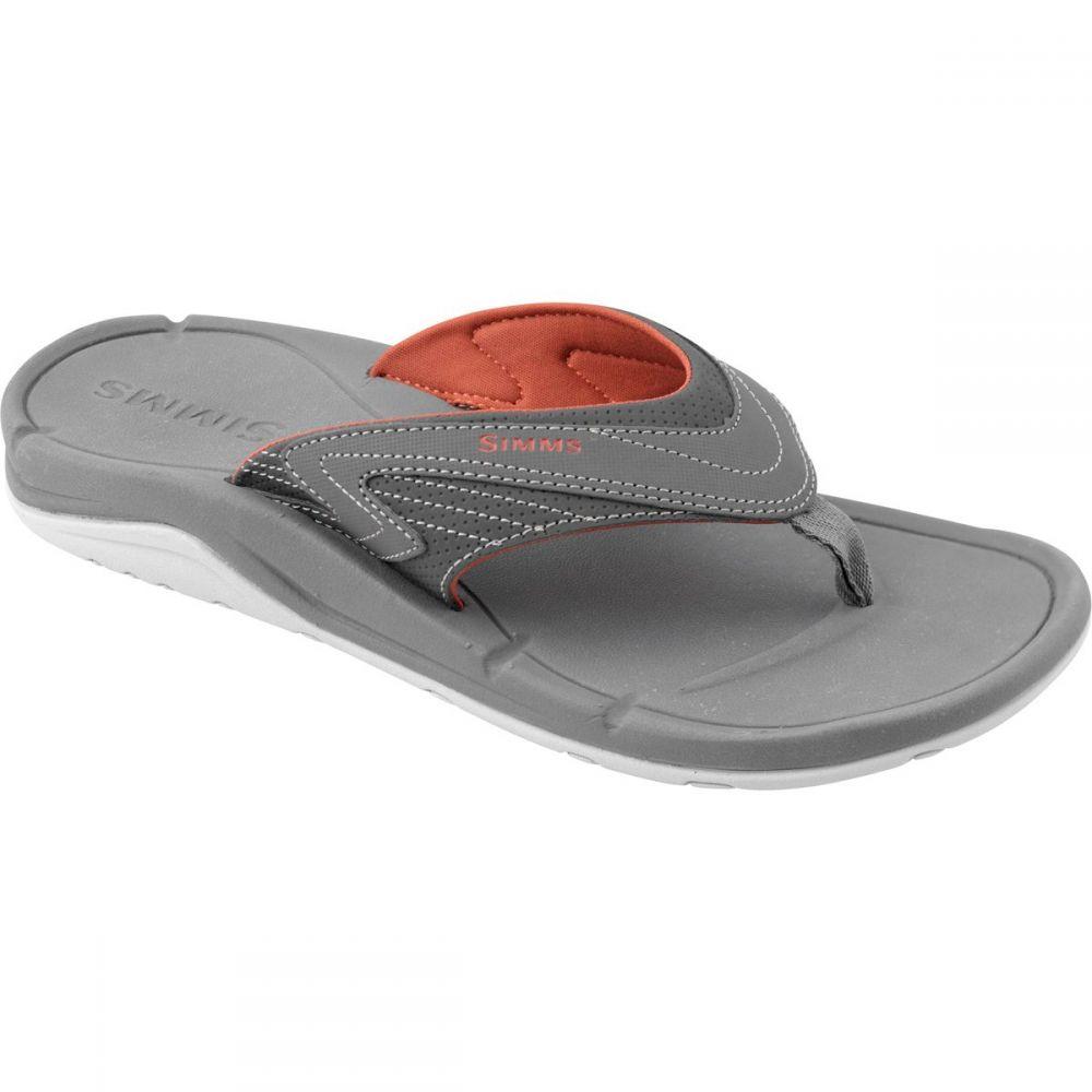 シムズ メンズ 釣り・フィッシング シューズ・靴【Atoll Flip - Flops】Anvil