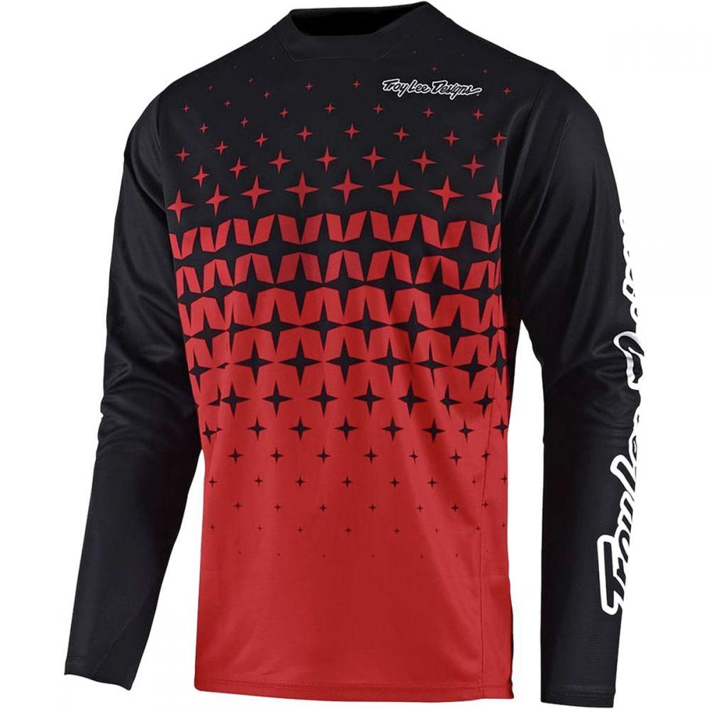 トロイリーデザイン メンズ 自転車 トップス【Sprint Long - Sleeve Jerseys】Megaburst Red/Black