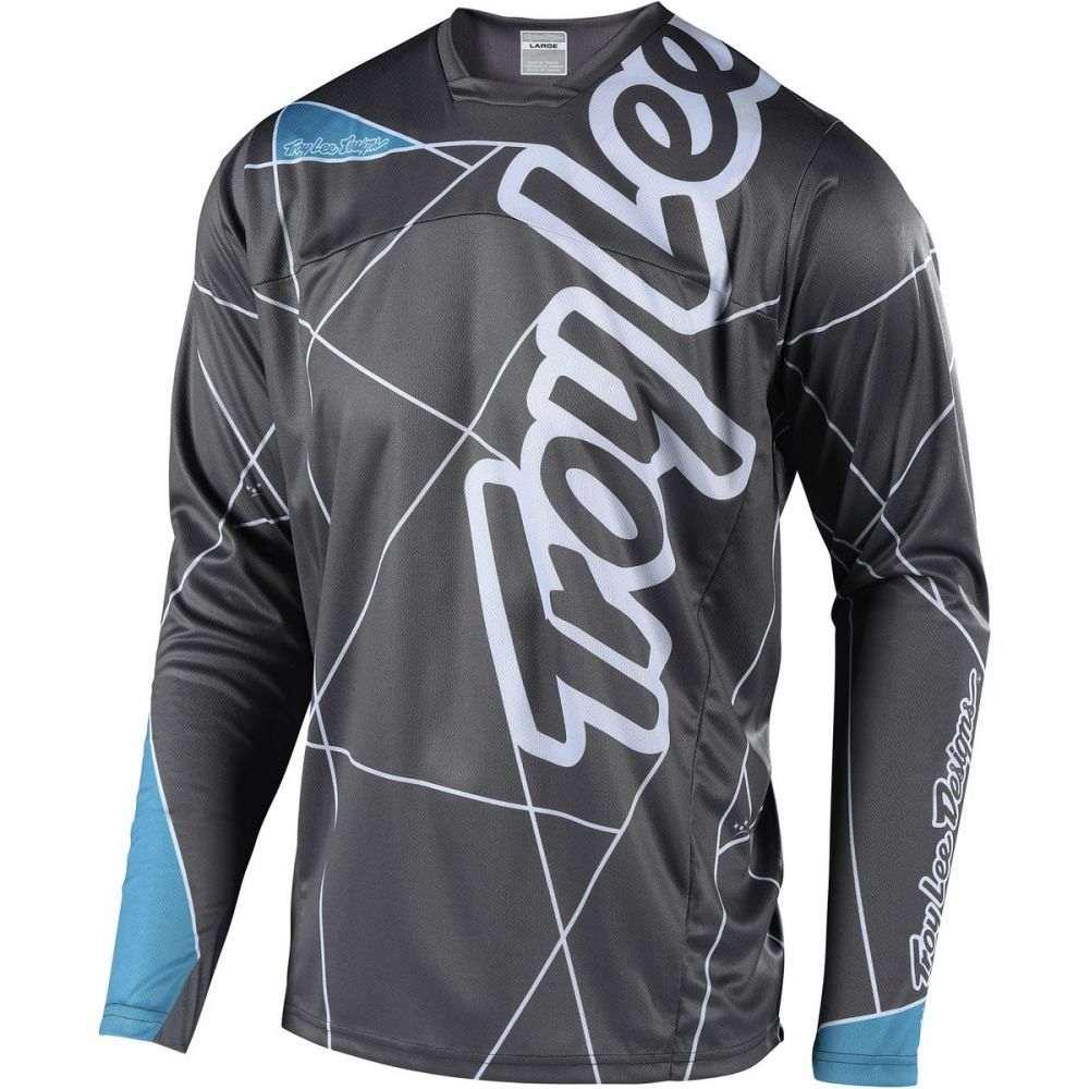 トロイリーデザイン メンズ 自転車 トップス【Sprint Long - Sleeve Jerseys】Metric Gray/Ocean