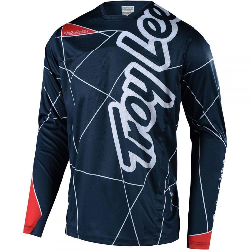 トロイリーデザイン メンズ 自転車 トップス【Sprint Long - Sleeve Jerseys】Metric Navy/Red