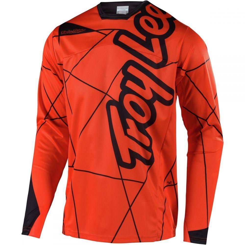 トロイリーデザイン メンズ 自転車 トップス【Sprint Long - Sleeve Jerseys】Metric Orange/Black