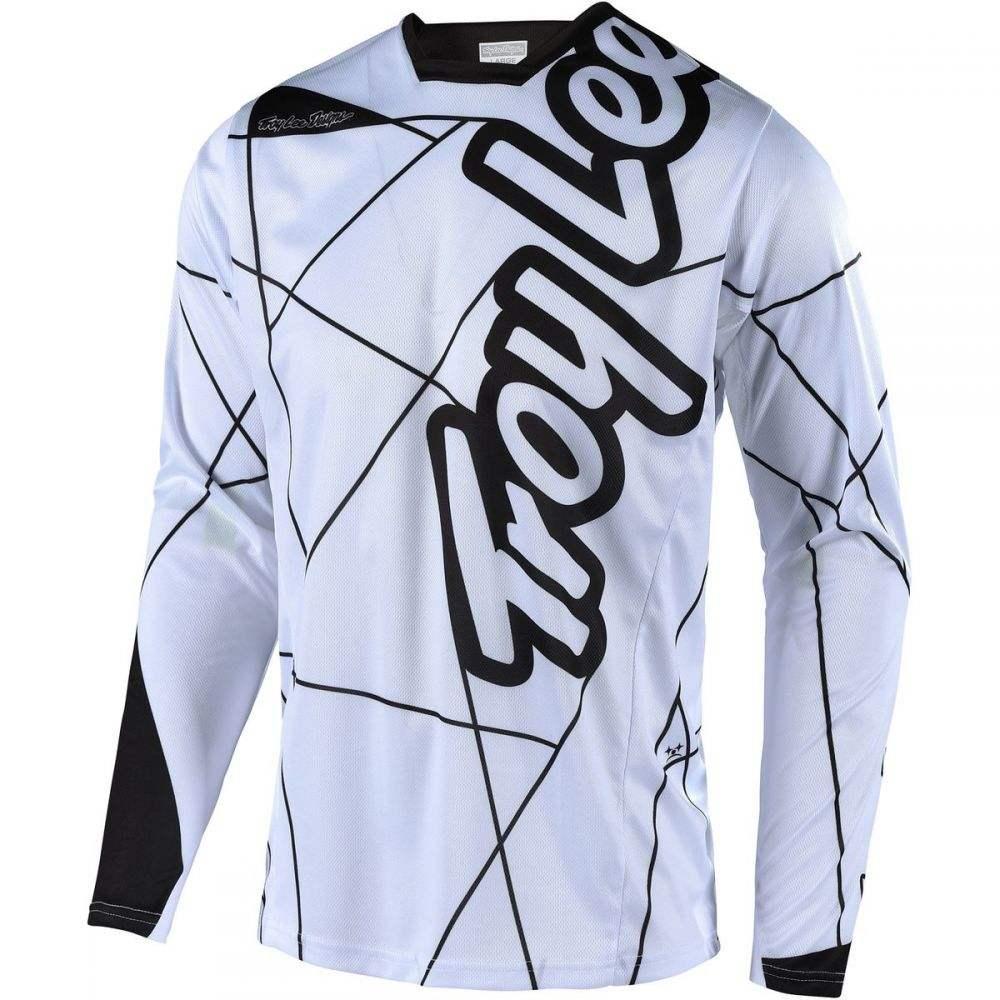 トロイリーデザイン メンズ 自転車 トップス【Sprint Long - Sleeve Jerseys】Metric White/Black