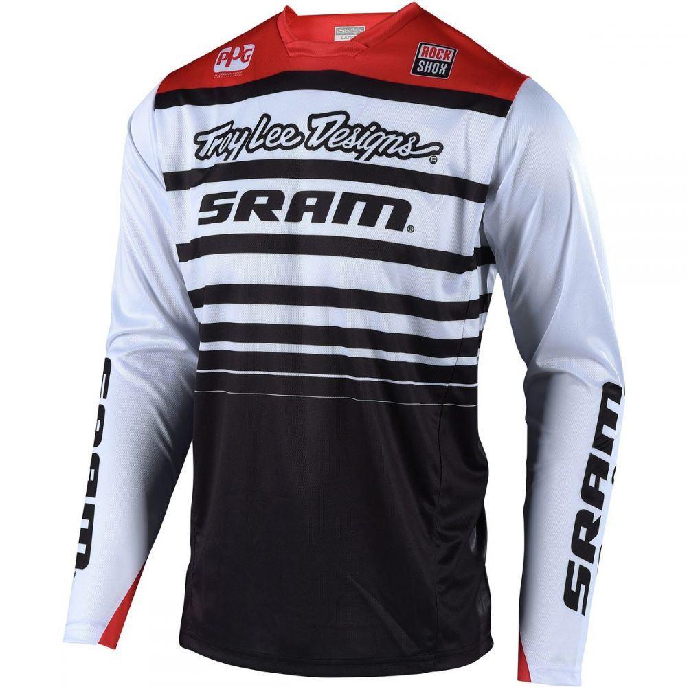 トロイリーデザイン メンズ 自転車 トップス【Sprint Long - Sleeve Jerseys】Sram White/Black