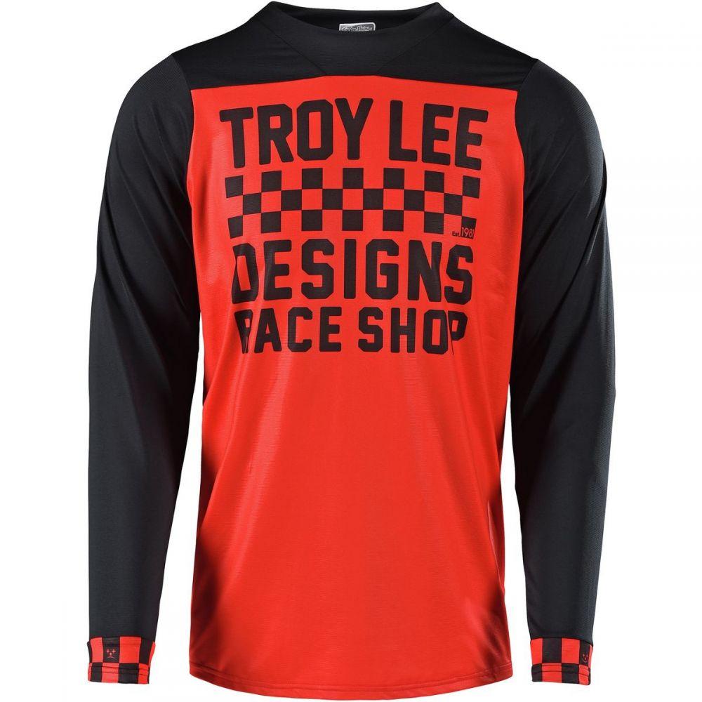 トロイリーデザイン メンズ 自転車 トップス【Skyline Long - Sleeve Jerseys】Checker Red/Black