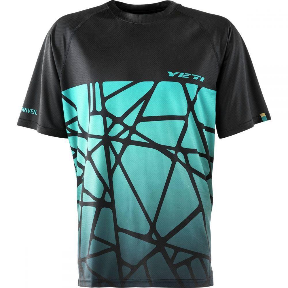 イエティーサイクル メンズ 自転車 トップス【Alder Short - Sleeve Jerseys】Black Dot Shatter