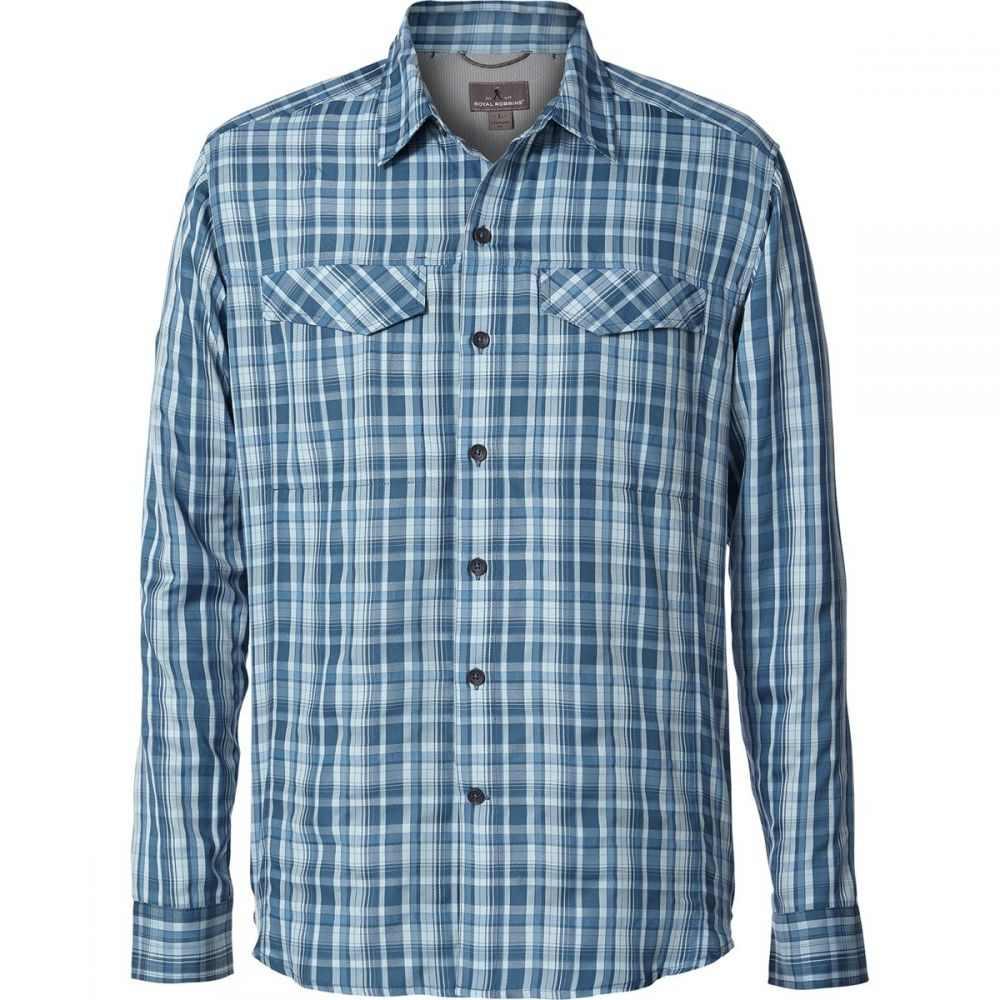 ロイヤルロビンズ メンズ トップス シャツ【Bug Barrier Ultra Light Shirts】Blue Stone