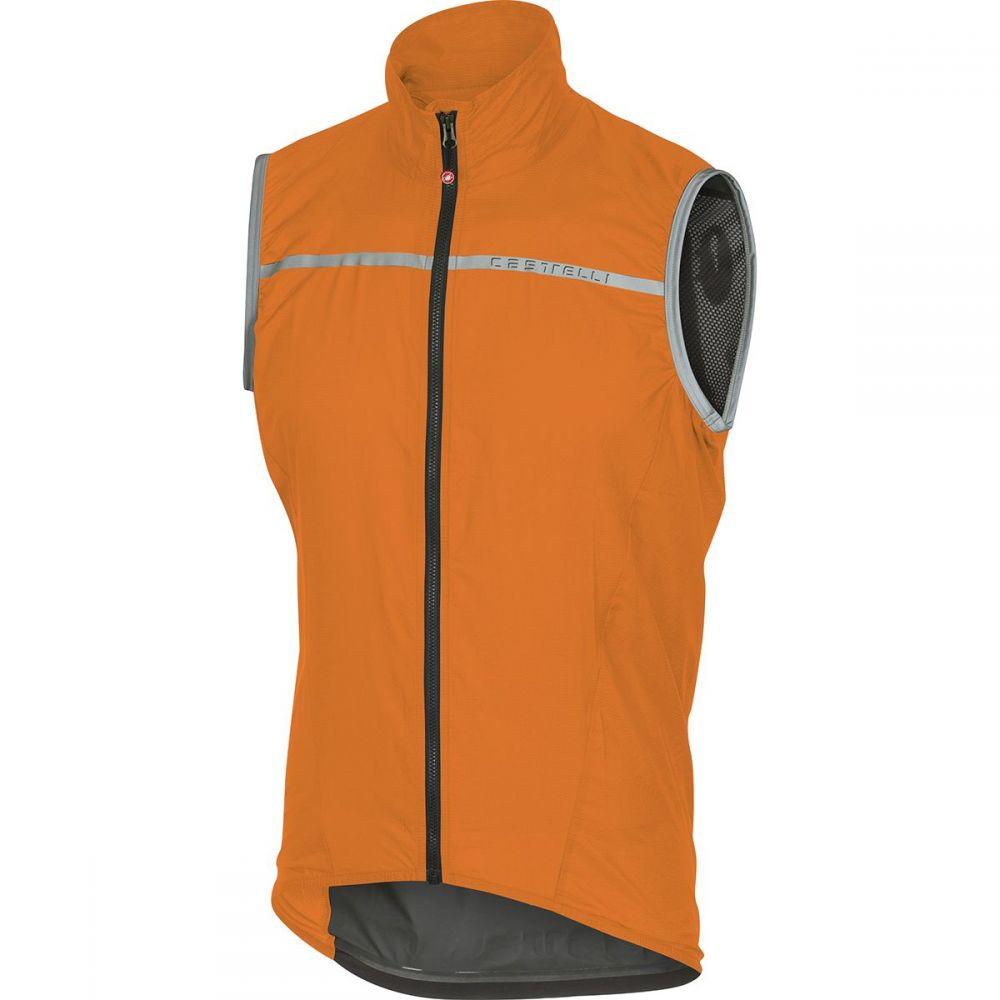 カステリ メンズ 自転車 トップス【Superleggera Vests】Orange