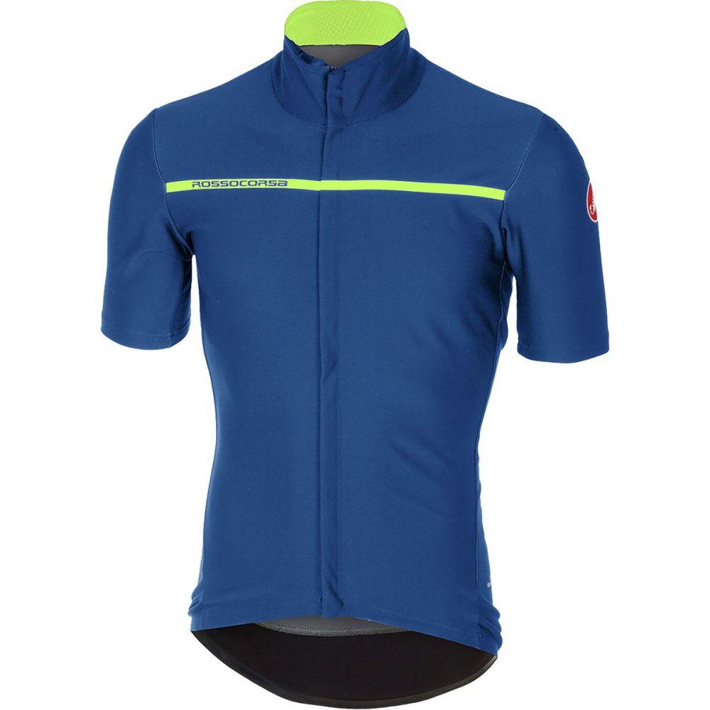 カステリ メンズ 自転車 トップス【Gabba 3 Short - Sleeve Jerseys】Ceramic Blue