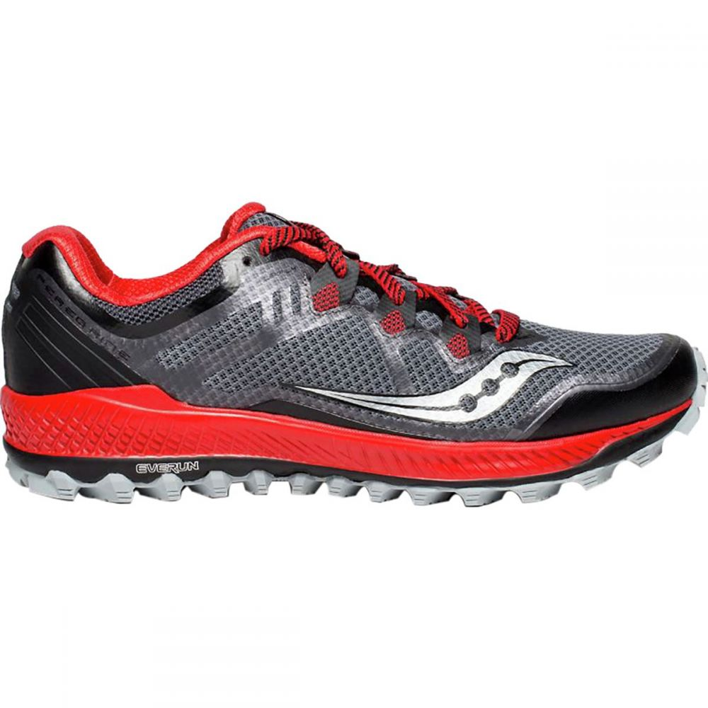 サッカニー メンズ ランニング・ウォーキング シューズ・靴【Peregrine 8 Trail Running Shoes】Black/Red