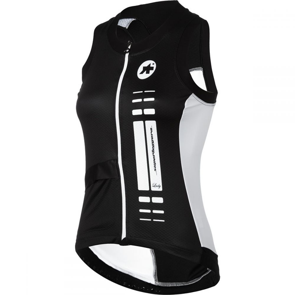 アソス レディース 自転車 トップス【nS.superLeggera Jersey - Sleeveless】Black Volkanga