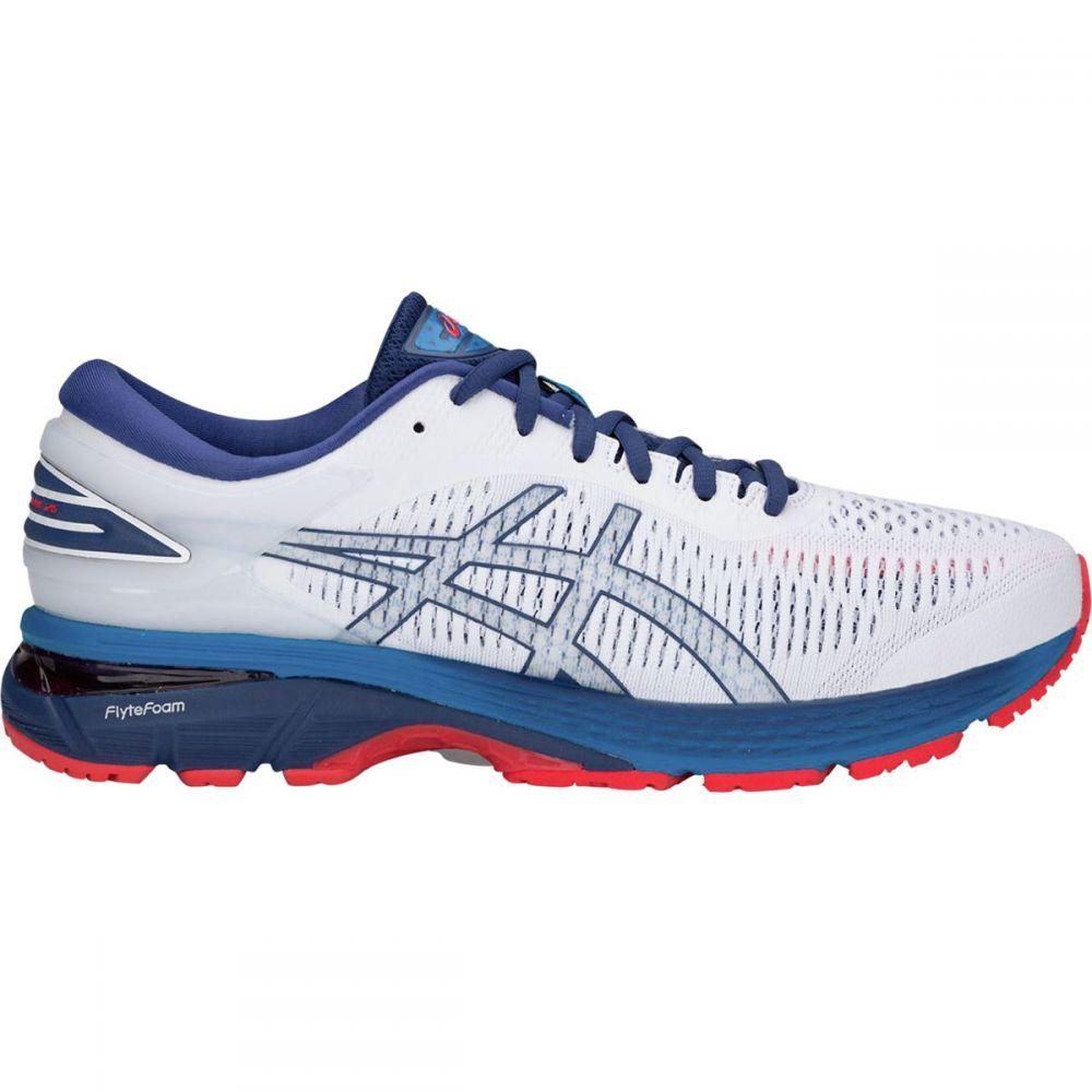 アシックス メンズ ランニング・ウォーキング シューズ・靴【Gel - Kayano 25 Running Shoes】White/Blue Print