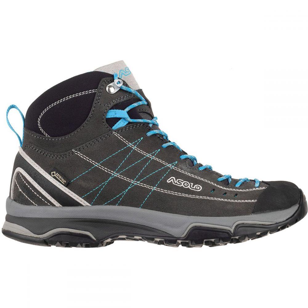 アゾロ レディース ハイキング・登山 シューズ・靴【Nucleon Mid GV Boot】Graphite/Silver/Cyan Blue
