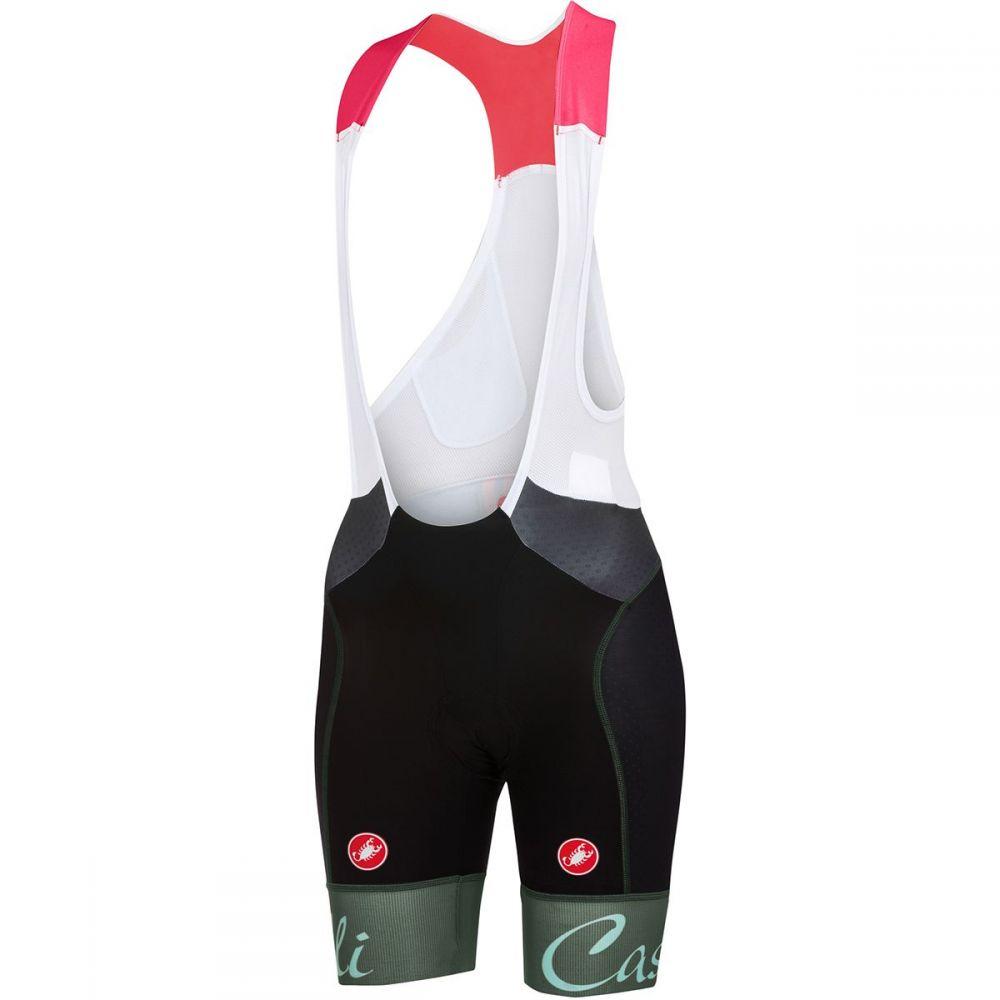 カステリ レディース 自転車 ボトムス・パンツ【Free Aero Bib Shorts】Black/Forest Gray
