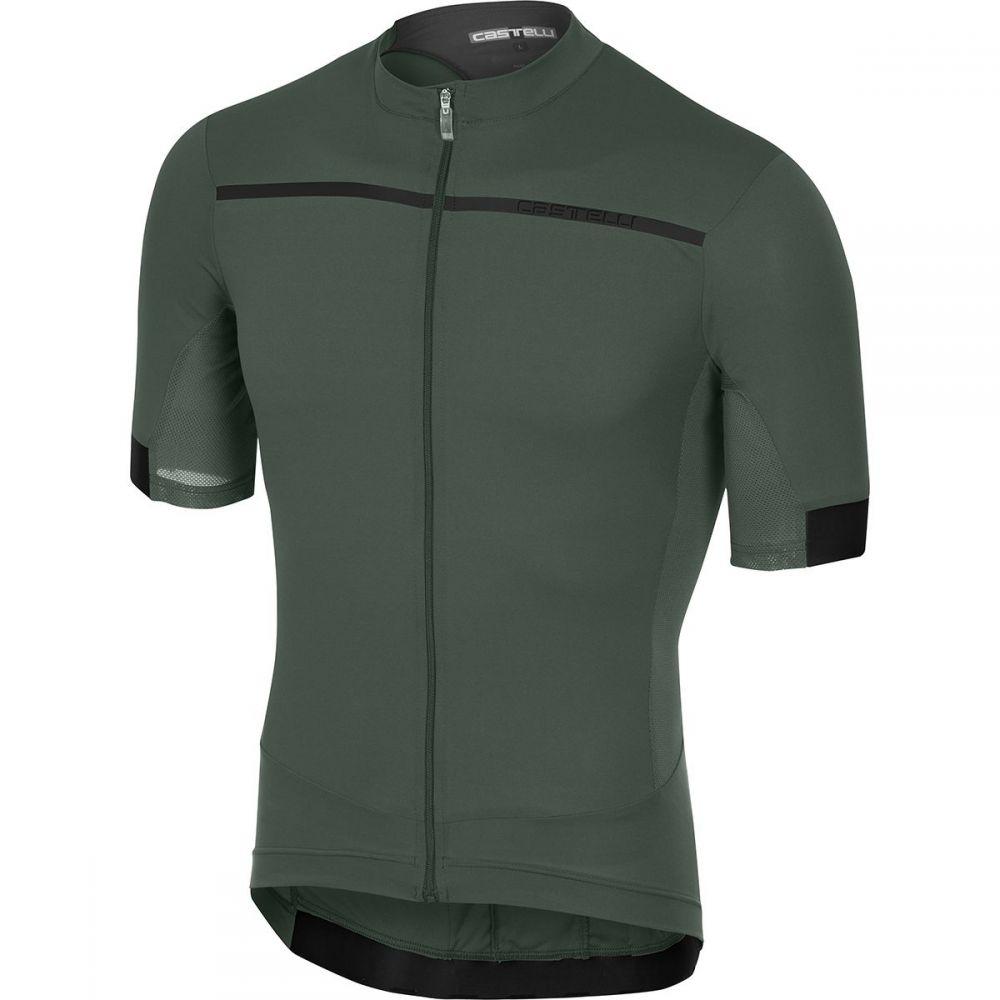 カステリ メンズ 自転車 トップス【Forza Pro Jerseys】Forest Gray