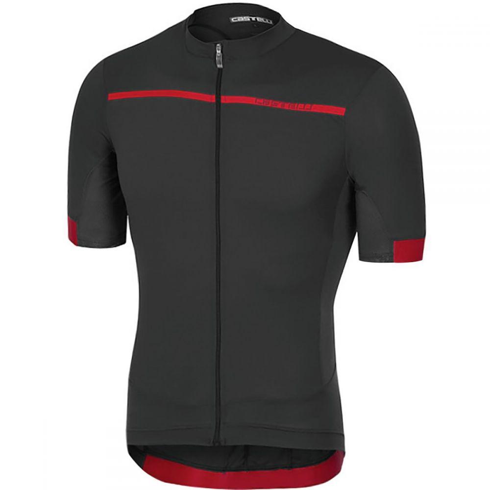 カステリ メンズ 自転車 トップス【Forza Pro Jerseys】Light Black