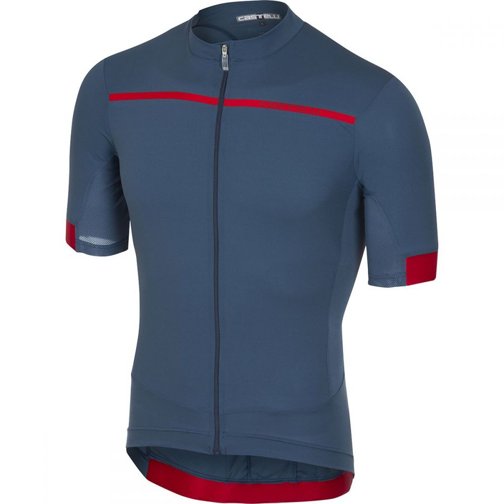 カステリ メンズ 自転車 トップス【Forza Pro Jerseys】Light Steel Blue