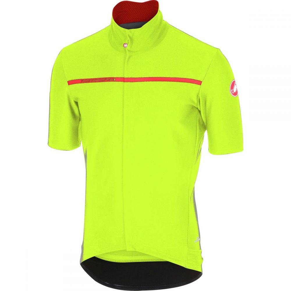 カステリ メンズ 自転車 トップス【Gabba 3 Short - Sleeve Jerseys】Yellow Fluo