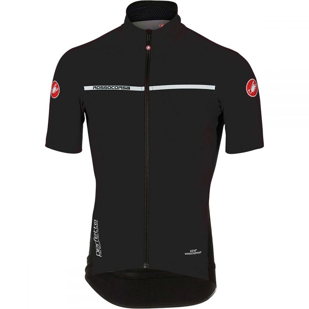 カステリ メンズ 自転車 トップス【Perfetto Light 2 Short - Sleeve Jerseys】Light Black