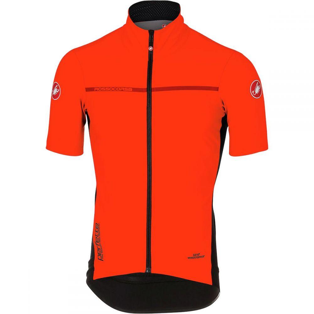 カステリ メンズ 自転車 トップス【Perfetto Light 2 Short - Sleeve Jerseys】Orange